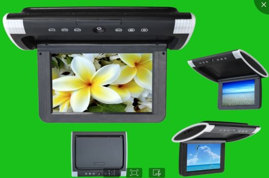 10.6 Inch Universal Flip Down Car DVD Player Roof Mount DVD with DVD/TV/USB/SD/IR/FM