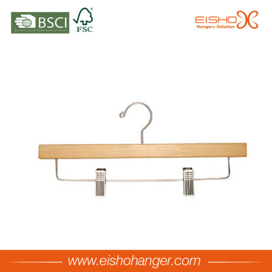 Hot Item Eisho Wooden Bottom Hanger With Clips Mk13 2