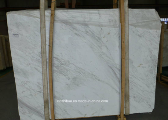 White Volakas Marble Slabs for Tiles/Countertops pictures & photos