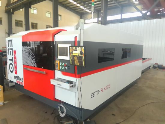 700W Ipg Laser Cutting Engraving Machine with Exchanging Pallet (FLX3015-700W) pictures & photos