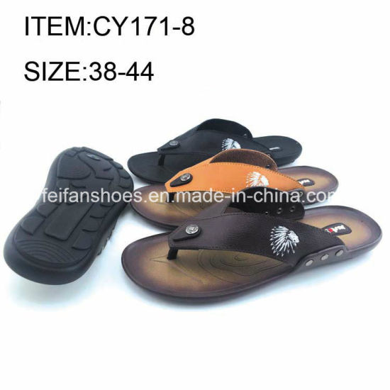 4e848b276d55 OEM Men Casual Sandals Softable PU Flip Flop Slippers Wholesale  (FFCY0412-04) pictures