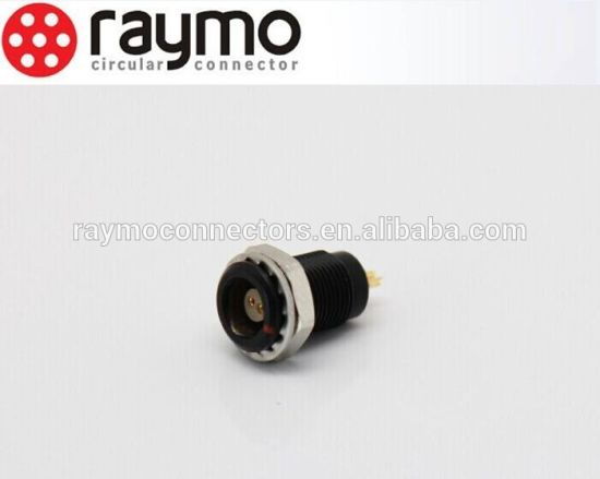 B Series Egg Metal Circular Fixed Socket 2 Female Connector