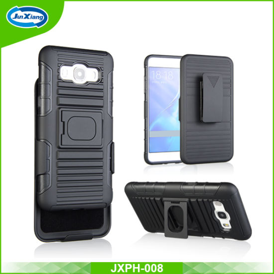 Wholesale Price Newest Design TPU+PC Cover Case for Samsung J510, Mobile Phone Case with Ring Kickstand Holder Function