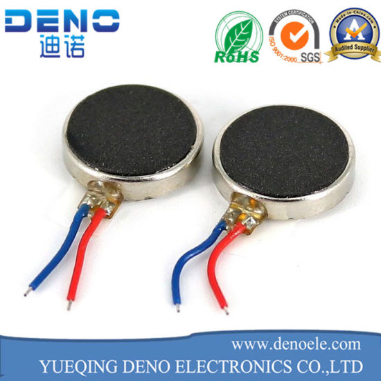 Pancake Micro Motor Flat Leads 10mm X 2.7mm Flat Vibration Mini Coin Motor pictures & photos