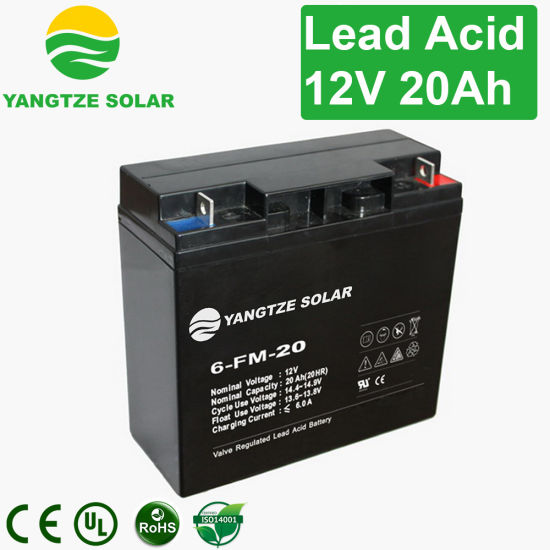 Deep Cycle 12v 20ah Gel Rechargeable Emergency Light Batteries