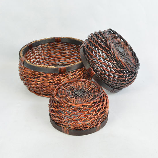 Eco-Friendly Handmade Natural Willow Display, Fruit, Flower Basket (BC-ST1212) pictures & photos