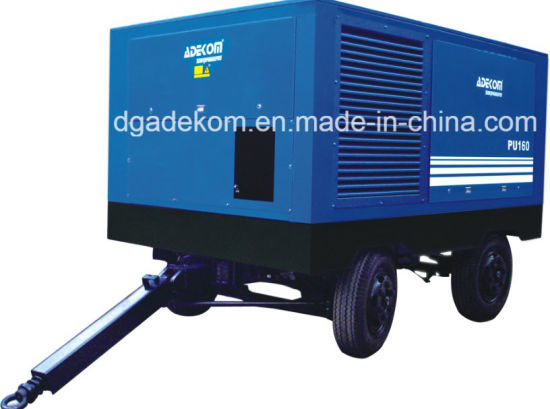 Construction High Pressure Screw Air Electric Mobile Compressor (PUE90-13) pictures & photos