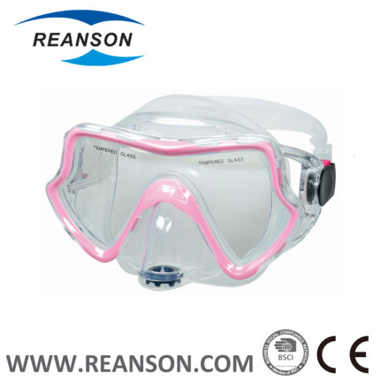 Double Color Injection Diving Mask with Exhaust Valve pictures & photos