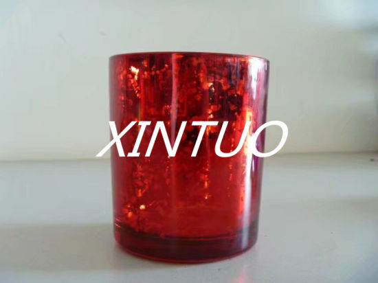 Red Color Glass Candle Holder Hot Sell pictures & photos