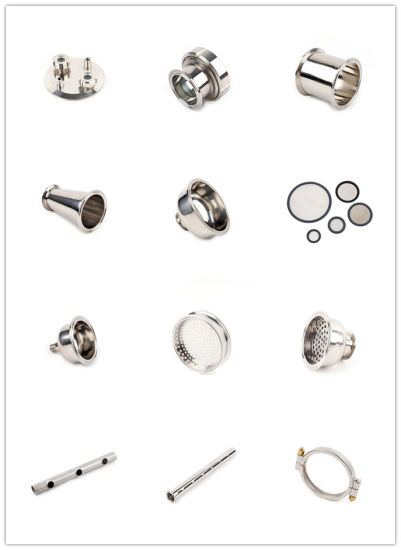 SS304 SS316L Sanitary Stainless Steel Welding Threaded Tri-Clamp Pipe Fittings