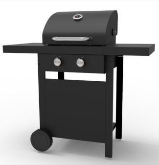 Two Burners Gas BBQ Grill with Ce, LFGB