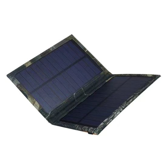 5W Foldable Solar Panel DC USB Portable Mobile Phone Battery Folding Charger Bag pictures & photos