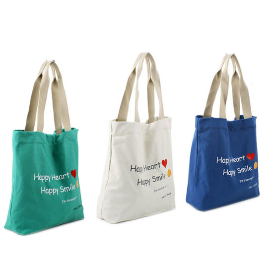 China Cheap Recyclable Tote Cotton Canvas Bags with Logo Printed ... e8d45d5042ea