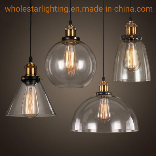 Glass Pendant Lamp with Metal Lampholder (WHG-146) pictures & photos