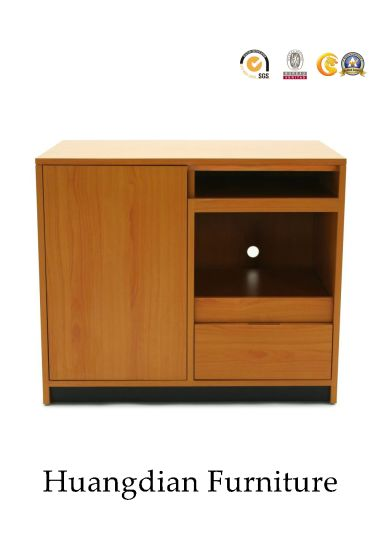 China Hotel Bedroom Tv Chest Media Cabinet With Mini Bar Hd997