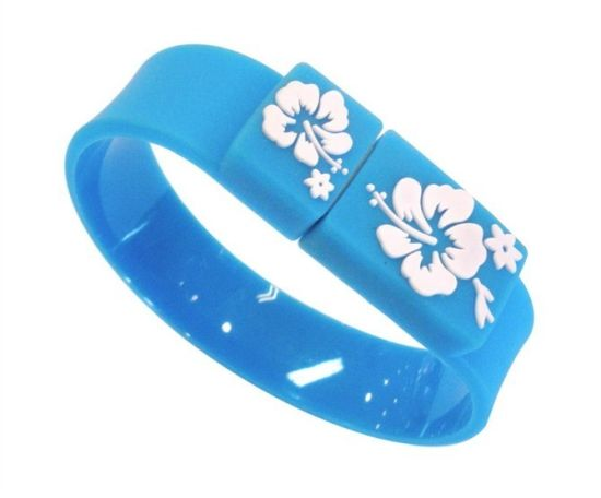 New Arriving Mixed Color 3.0 USB Flash Drive Bracelet USB Stick pictures & photos