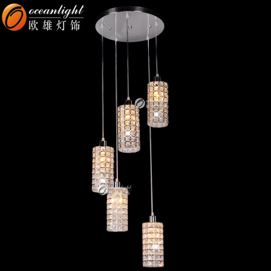 China Cheap Chandeliers LED Pendant Light Square Modern Crystal ...