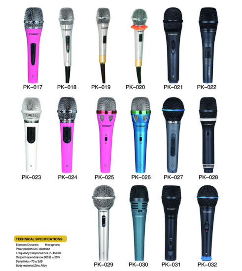 Fashion Design Mixer Microphone TV with Original Songs Vocal on/off Function Hot Sales pictures & photos
