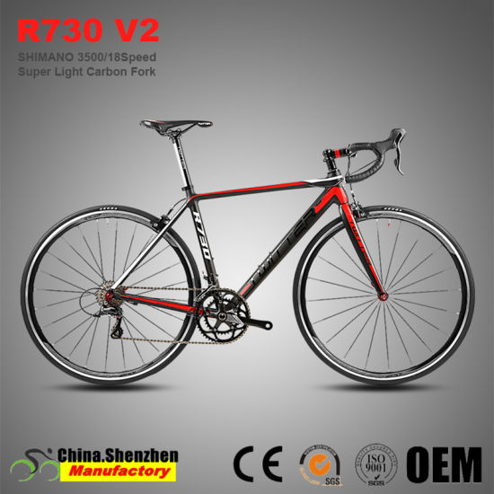 R730-V2 Sora 3500-18speed Carbon Fork Superlight Aluminum Alloy Road Bicycle pictures & photos