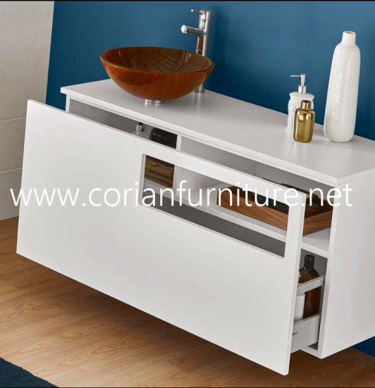 Corian Acrylic Solid Surface Wall Hung Wash Basin pictures & photos