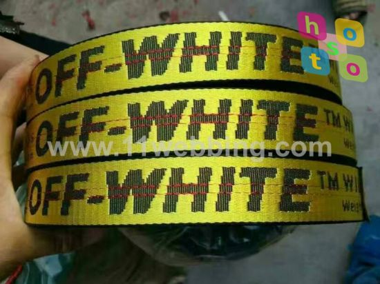 Custom Nylon / Polyester / Cotton Jacquard Webbing for Bag Accessories pictures & photos