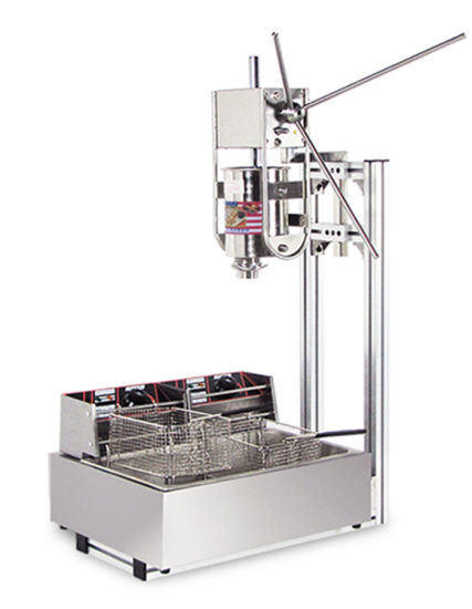 Snack Food Machines Churro Making Machine 3 Liters, High Efficient Churro Machine with Cutter