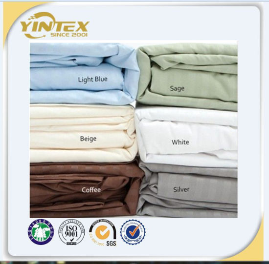 Hot Sales 100% Cotton Hotel Percale Satten Bed Sheet