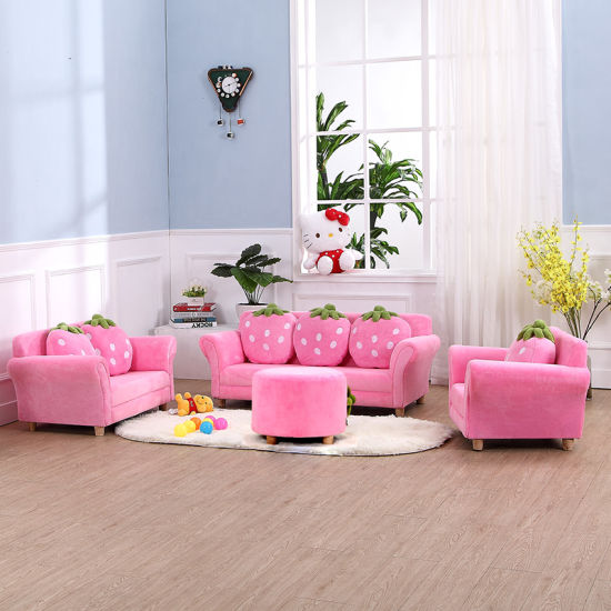 China Hot Sale Straberry Home Sofa Set/ Kids Ottoman - China Ottoman ...
