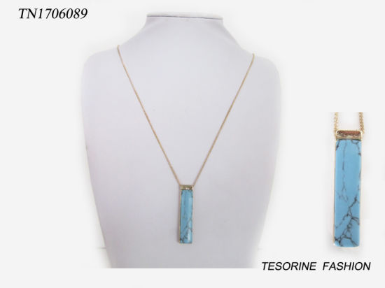 New Trendy Lady Fashion Special Stone Necklace