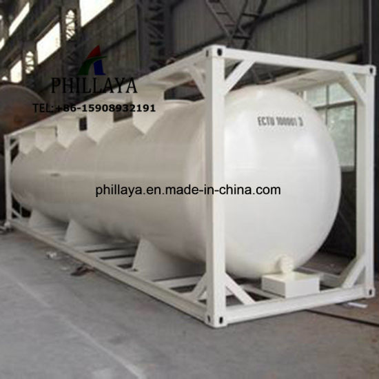 ISO LPG Fuel CNG Gas Liquid Bitumen LNG Loading Tanker Chassis Container Tank pictures & photos