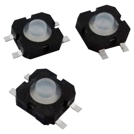 SGS Electronic Illuminated 4pins Metal Dust-Proof Waterproof Tact Switch pictures & photos
