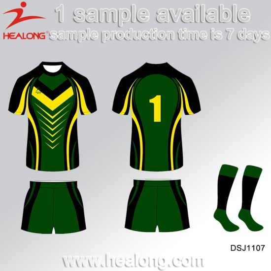 d95a5732392 Healong China High Quality Sports Clothing Gear Sublimation Men′s Rugby  Jerseys Shirts pictures &