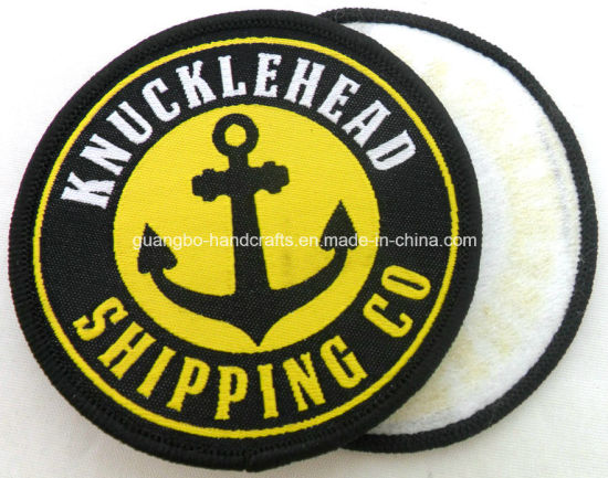 High Quality Cloth Patch Machine Woven Badge pictures & photos