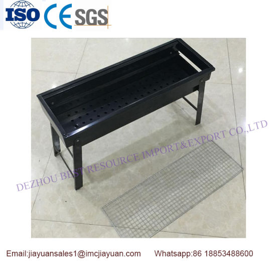 Cheap Price Stock Sell 0.6mm Stainless Steel 430 Charcoal Portable Folding BBQ Grill