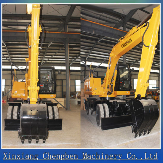 Hydraulic Wheel Mini Excavator for Sale with 12months Warranty pictures & photos
