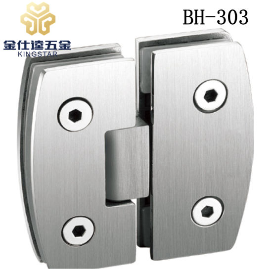 BH 303 180 Degree Arc Edge Shower Door Hinge Glass Clamp Fitting Bathroom  Accessories