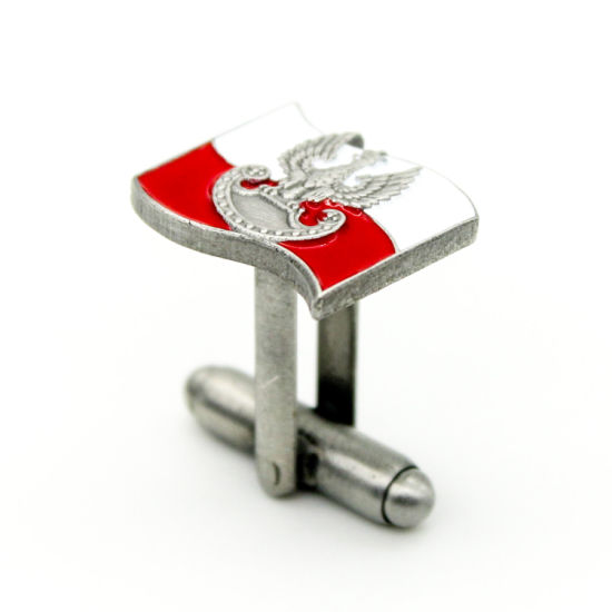 Wholesale Printed Stainless Steel Cufflink Holder Tie Clips Letter Alphabet pictures & photos