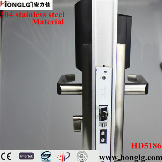 304 Stainless Steel Electronic Smart RF Card Hotel Door Lock (HD5186) pictures & photos