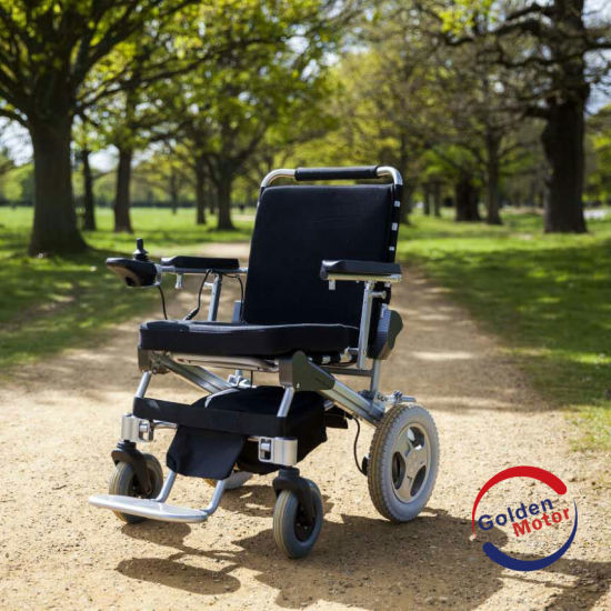 China E-throne Lightweight Folding Electric Wheelchair, TUV