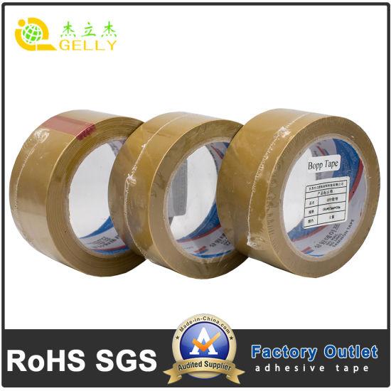Waterproof 48mic Single Shrink Self Adhesive Industrial BOPP Sealing Tape