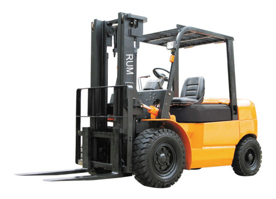 Diesel Forklift Truck with 5 Ton Load Capacity Auto Transmission