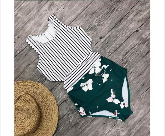 Plus Size Swimwear 2018 Sexy One Piece Swimsuit Push up Beach Wear Print Bathing Suit Backless