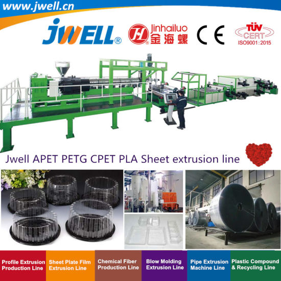 Jwell-Pet|APET|PETG|Cet|PLA Plastic Single Layer or Multi Layer Sheet Recycling Agricultural Making Machine Used in Various Packaging and Electronic Industries