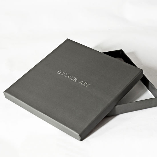 Custom Silver Foil Logo Printed Top Lid and Base Box Jewelry Packaging Box Decorative Jewelry Gift Boxes for Jewelry/T-Shirt/ Gift Set/Silk Scarf