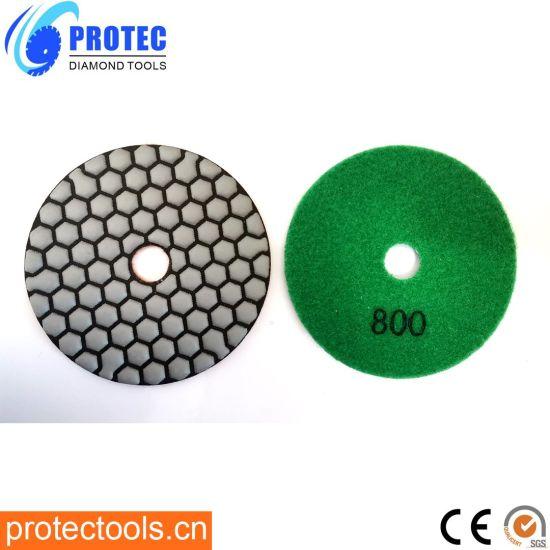 "Diamond Polishing Pads/Diamond Tools/Polishing Tool/Polishing Pad/Wet&Dry Polishing Pads/Flexible Polishing Pads 4""/105mm/7 Step Polishing Pad 9"