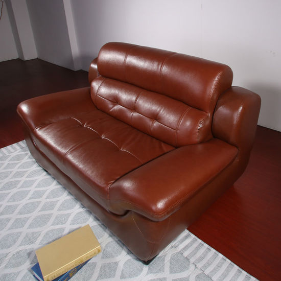 China Leather Sofa Combination Top Layer Cowhide Size ...