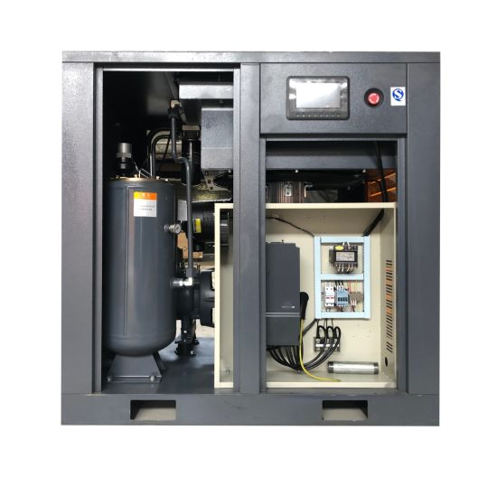 Hot Sale Industrial Low-Noise Electric Stationary AC Power Oil Air Compressor Oil-Injected Lubricated Direct Rotary Screw Type Air Compressor