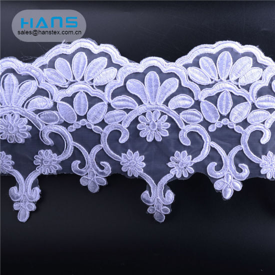 Hans Factory Direct Sale Colorful Wholesale Beaded Lace Fabric pictures & photos