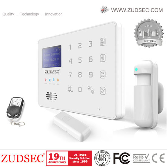 Voiced LCD GSM Home Intruder Alarm System