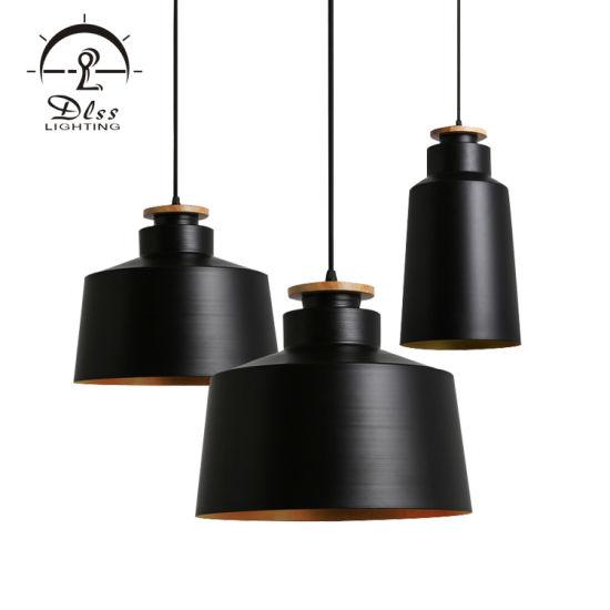 Vintage Black Chandelier White Hanging Pendant Lamp